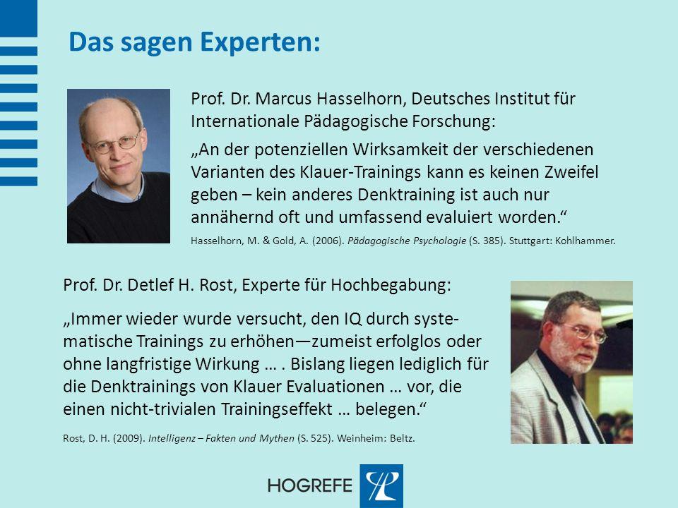 Das sagen Experten: Prof. Dr. Marcus Hasselhorn, Deutsches Institut für Internationale Pädagogische Forschung: