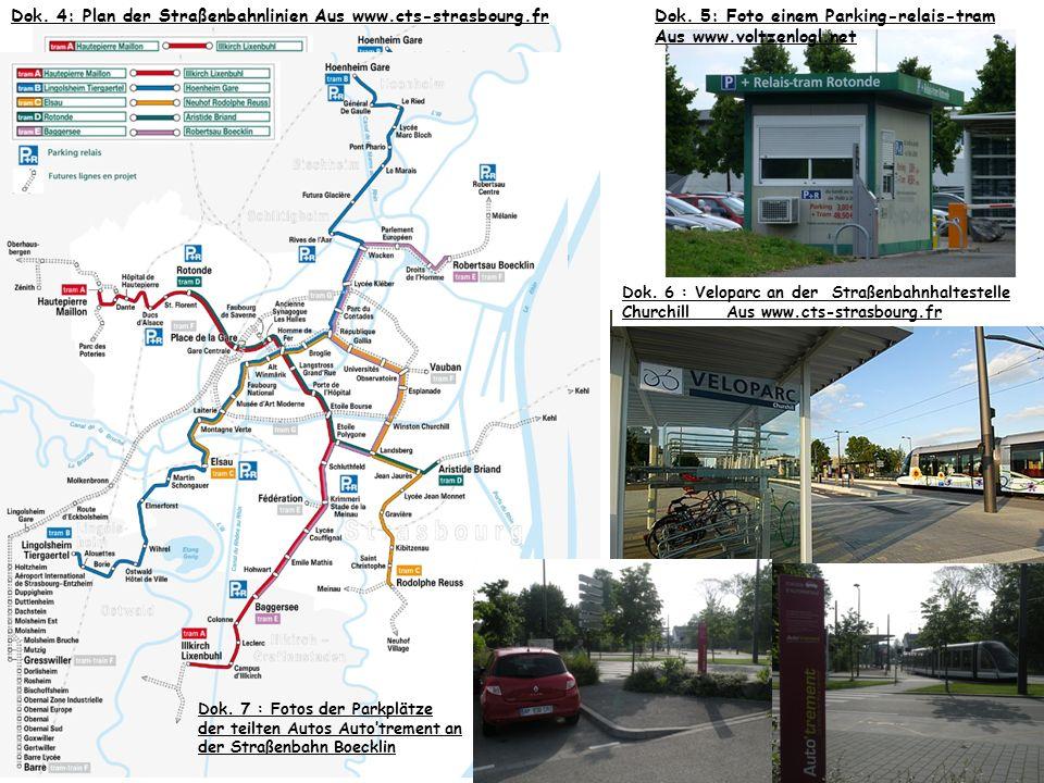 Dok. 4: Plan der Straßenbahnlinien Aus www.cts-strasbourg.fr