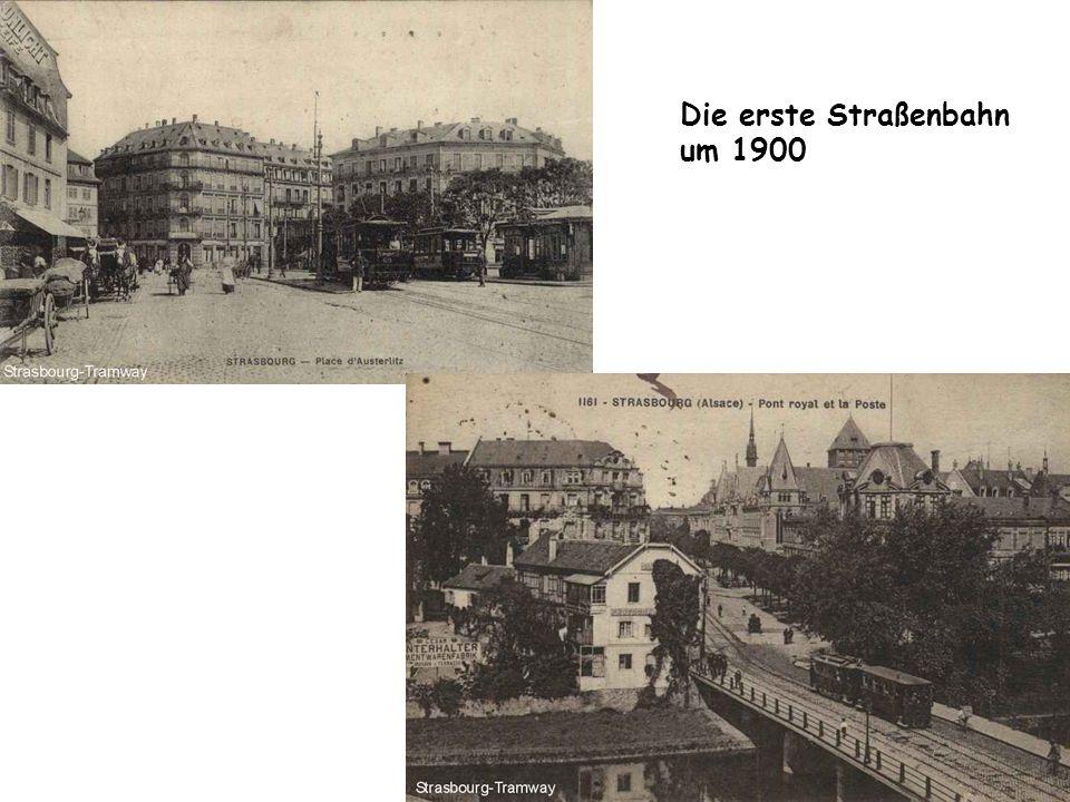 Die erste Straßenbahn um 1900