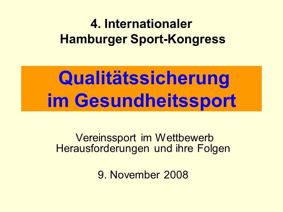 Qualitätssicherung im Gesundheitssport