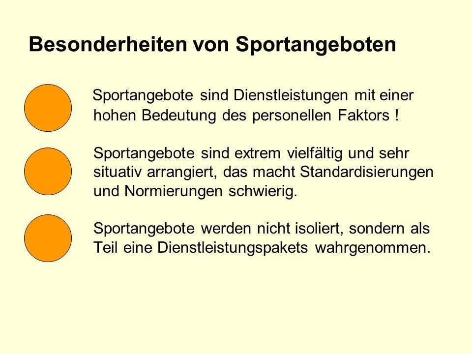Besonderheiten von Sportangeboten