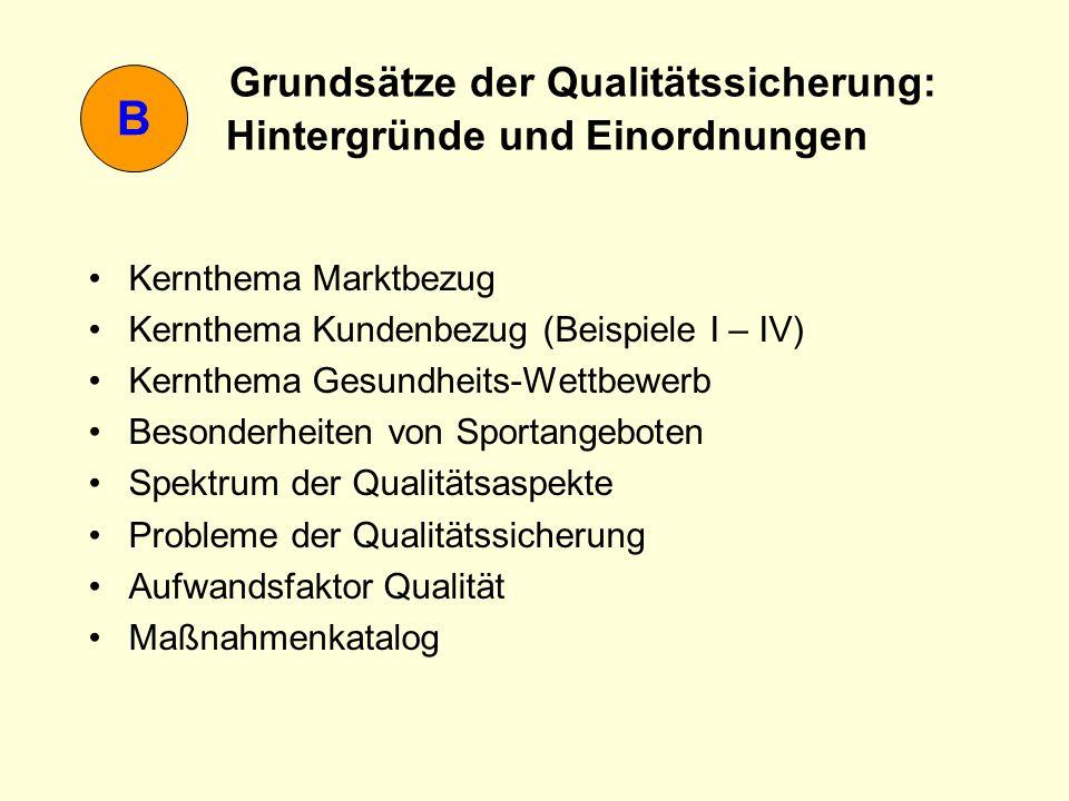 Grundsätze der Qualitätssicherung: Hintergründe und Einordnungen