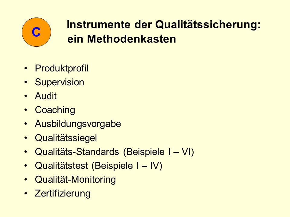 Instrumente der Qualitätssicherung: ein Methodenkasten