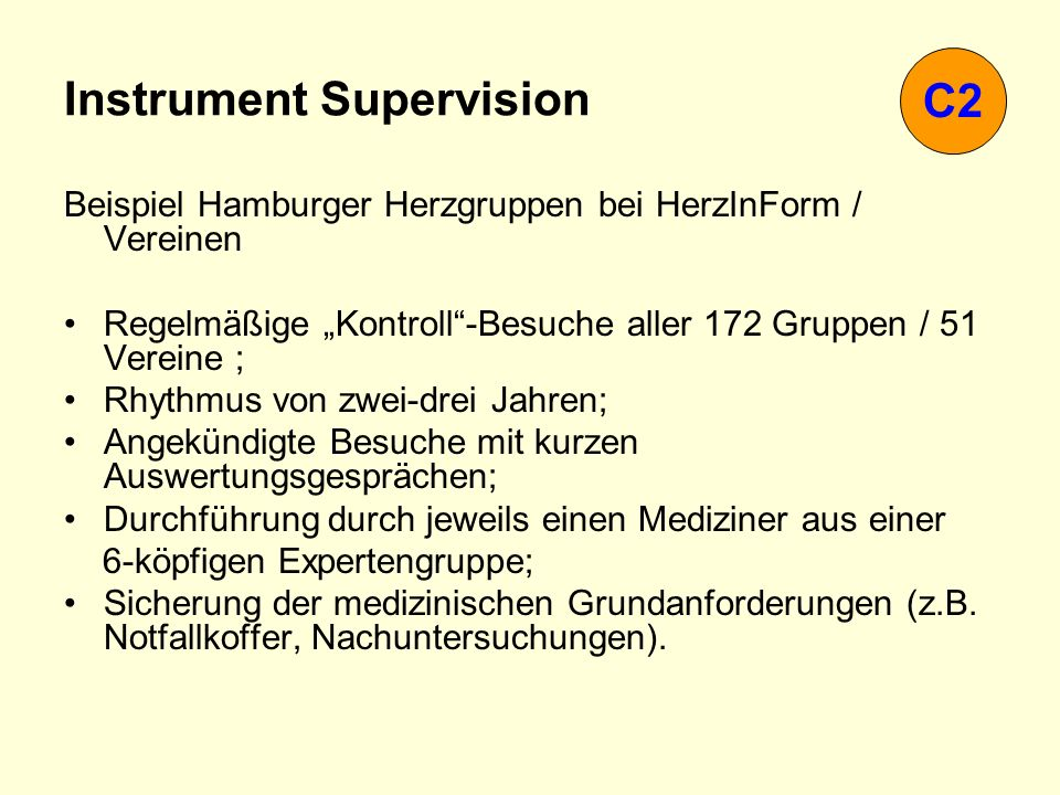 Instrument Supervision