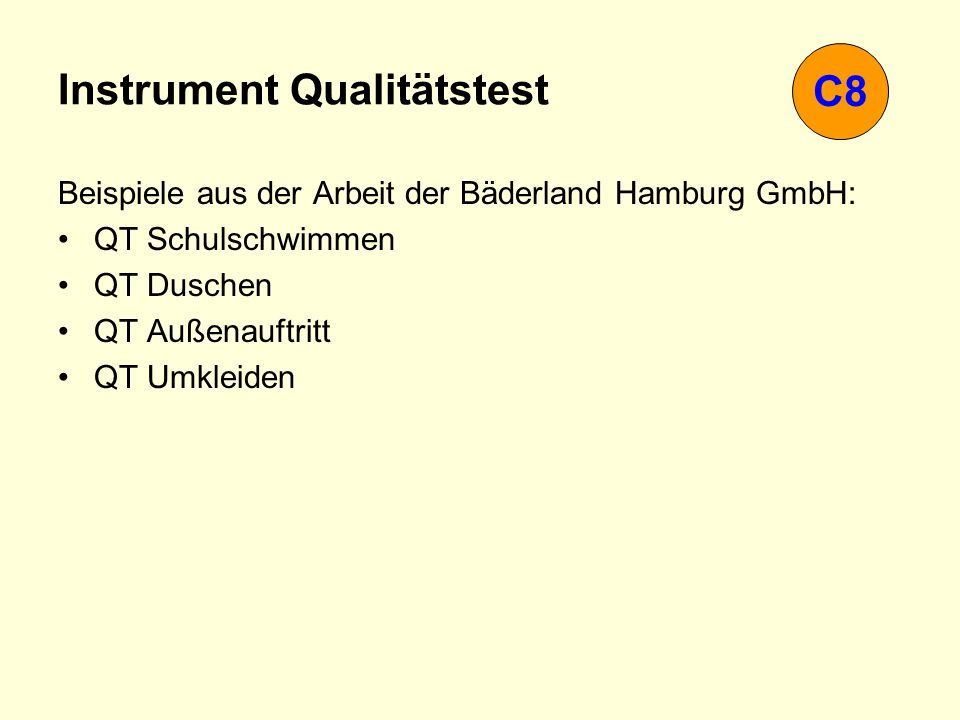 Instrument Qualitätstest