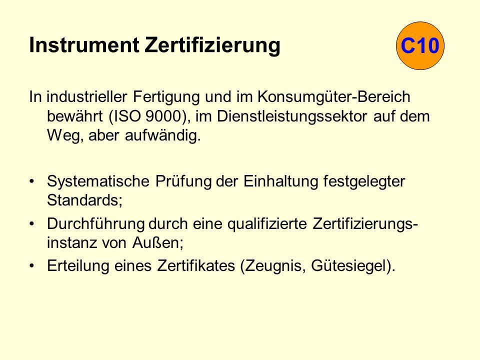 Instrument Zertifizierung