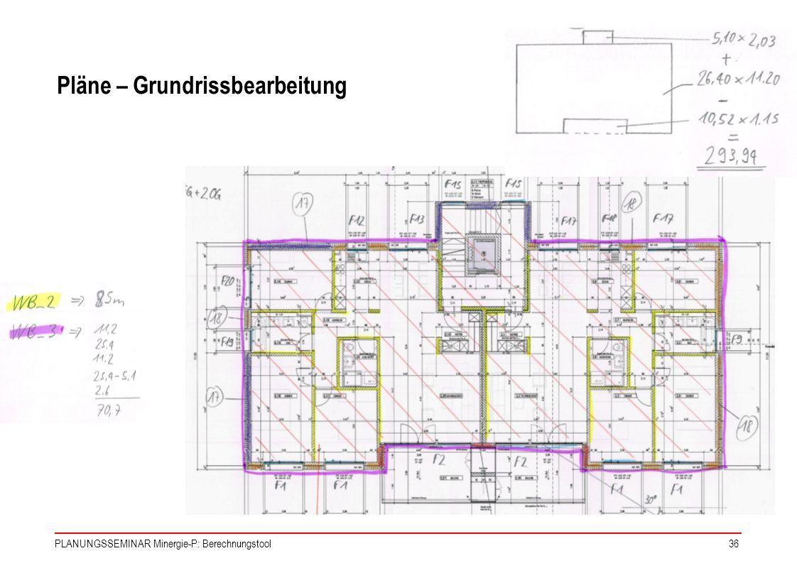 Pläne – Grundrissbearbeitung