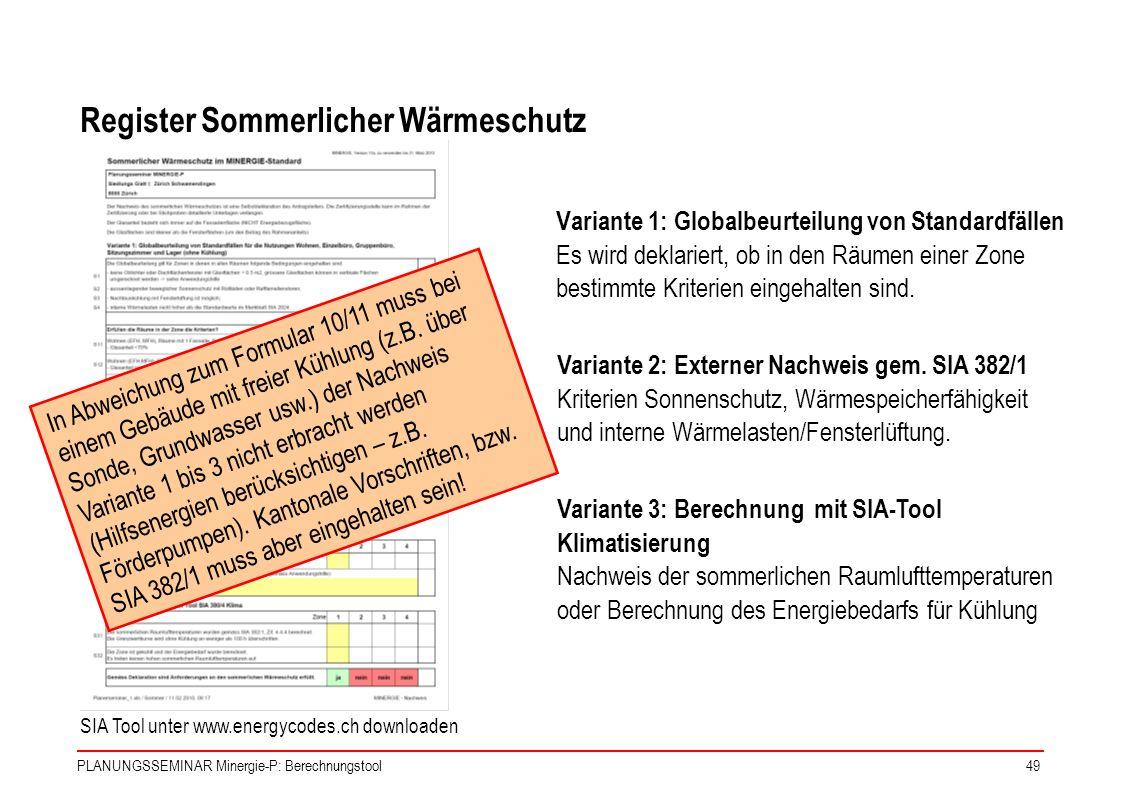Register Sommerlicher Wärmeschutz