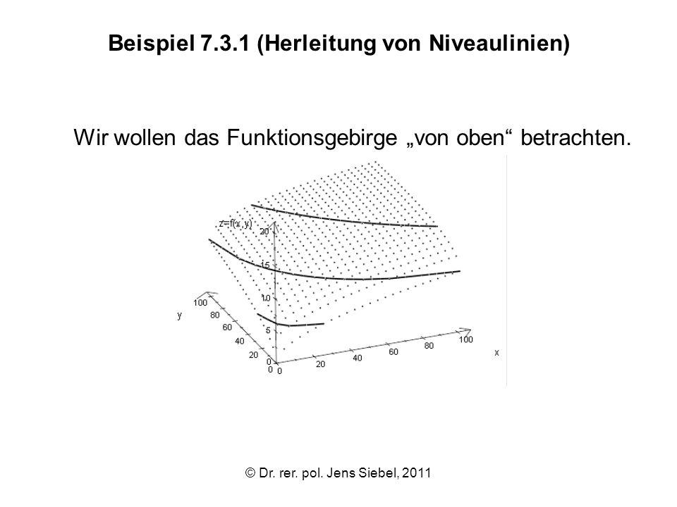 Beispiel 7.3.1 (Herleitung von Niveaulinien)