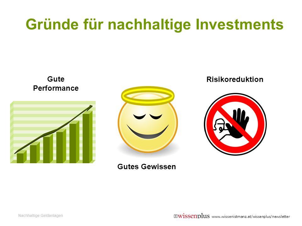 Gründe für nachhaltige Investments