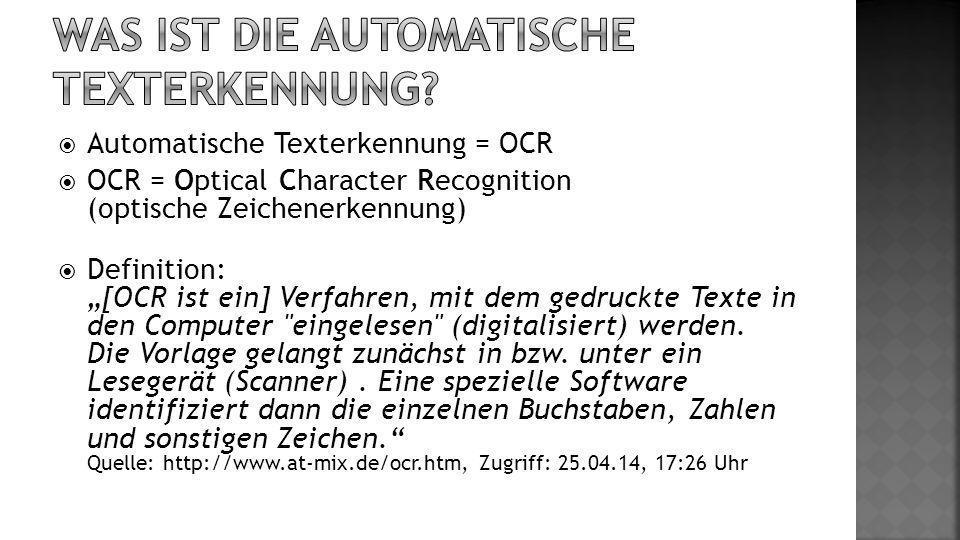 Was ist die Automatische Texterkennung