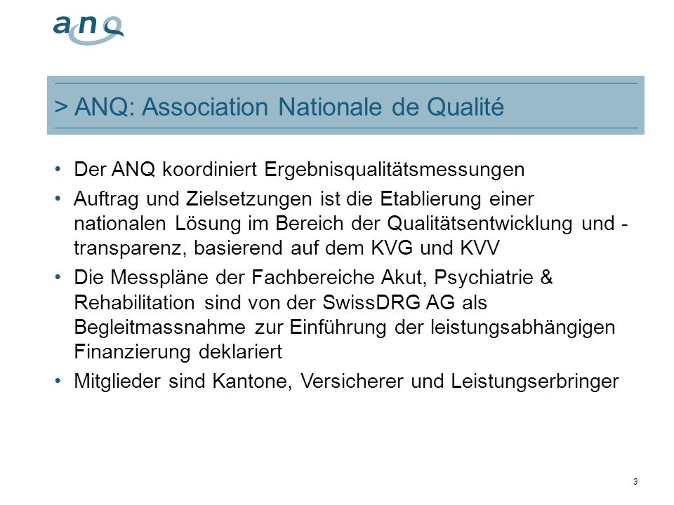 > ANQ: Association Nationale de Qualité