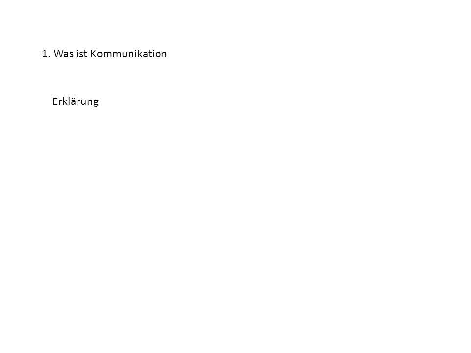 1. Was ist Kommunikation Erklärung