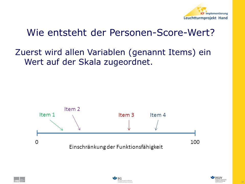 Wie entsteht der Personen-Score-Wert