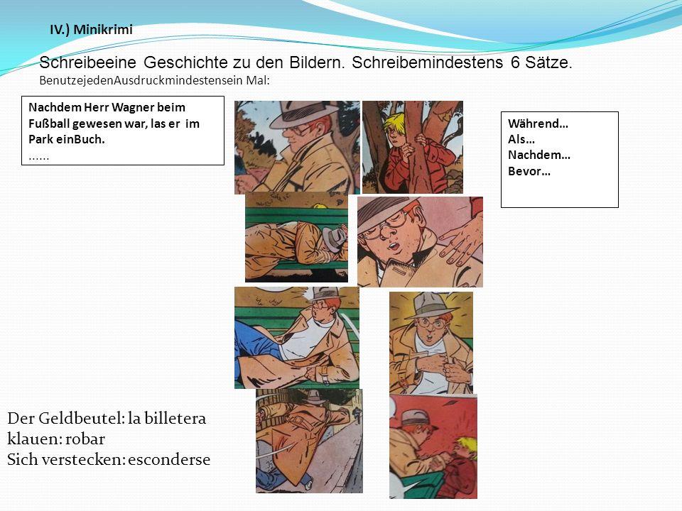 Schreibeeine Geschichte zu den Bildern. Schreibemindestens 6 Sätze.