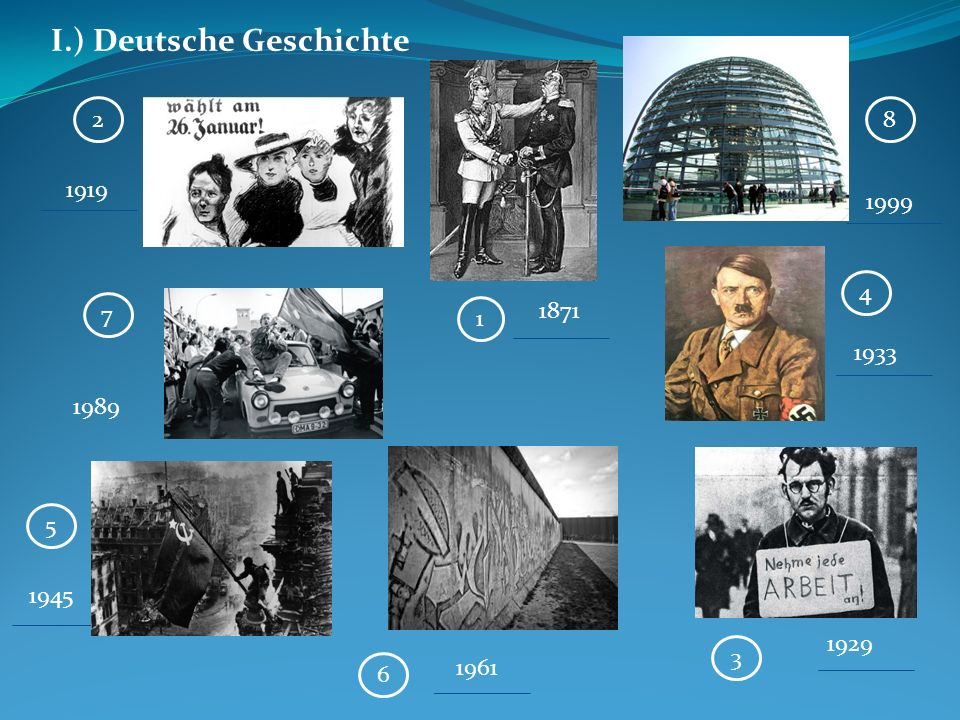 I.) Deutsche Geschichte