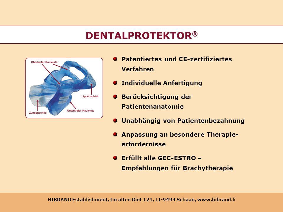 DENTALPROTEKTOR® Patentiertes und CE-zertifiziertes Verfahren