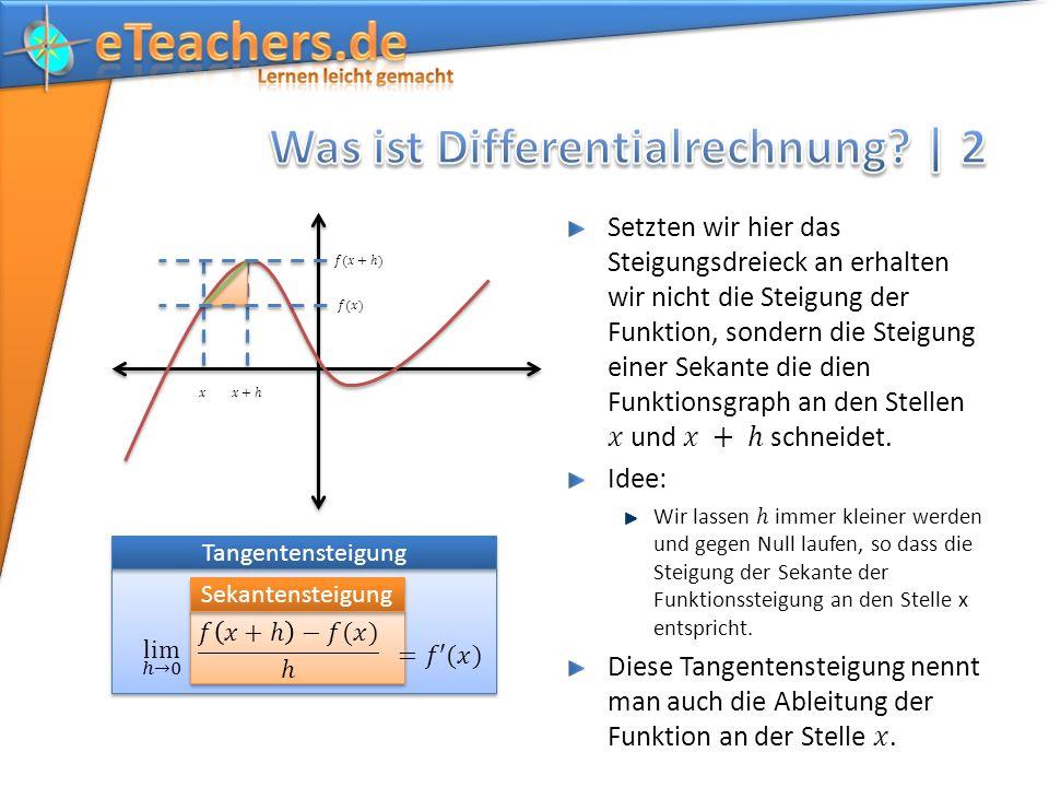 Was ist Differentialrechnung | 2