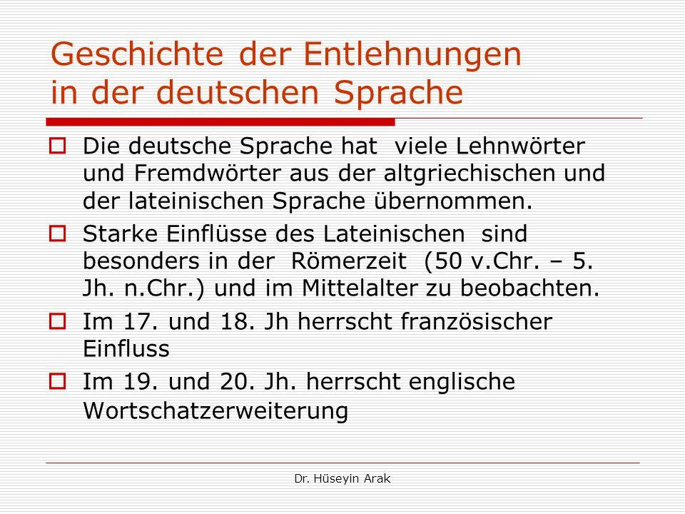 Geschichte der Entlehnungen in der deutschen Sprache