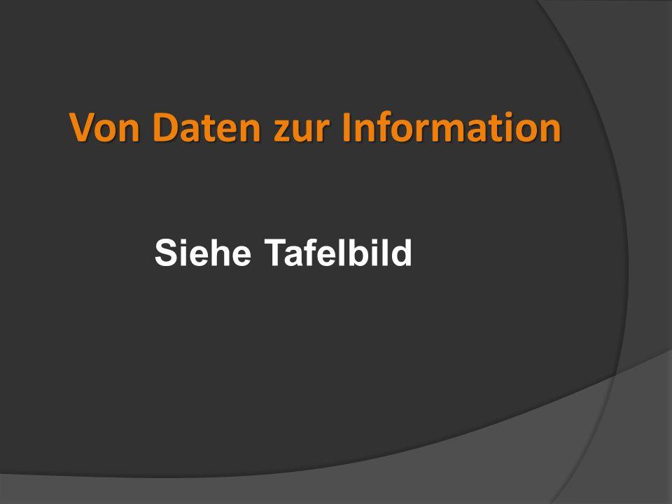 Von Daten zur Information