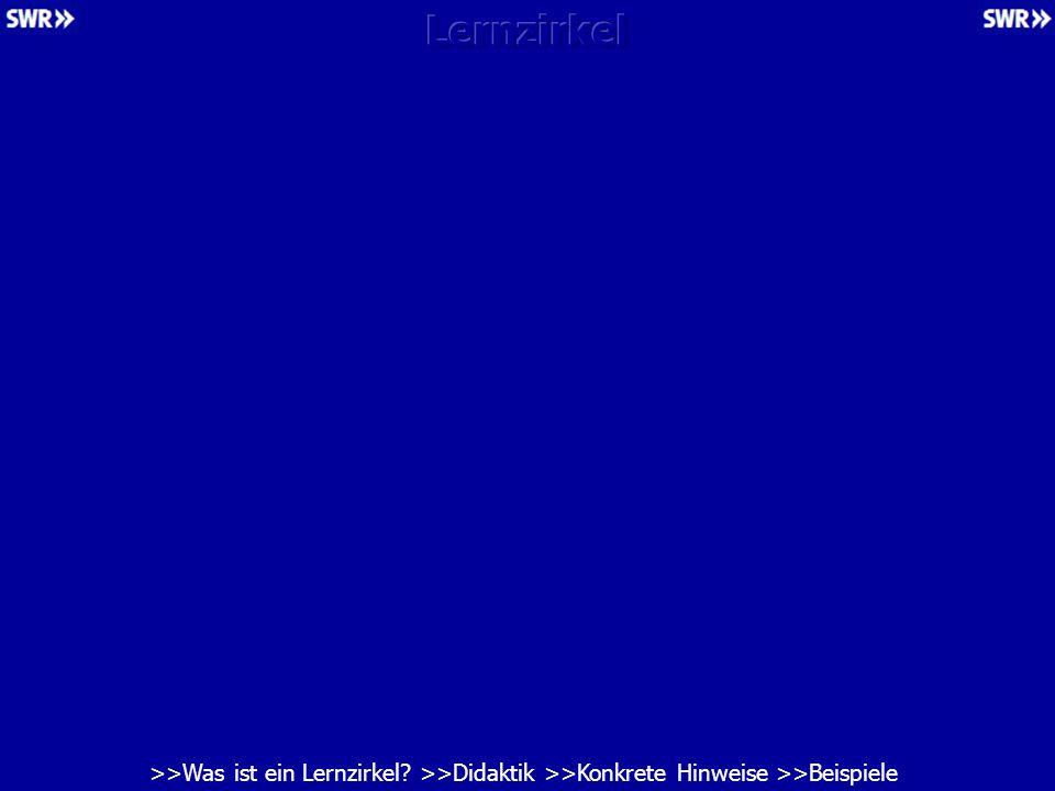 Lernzirkel >>Was ist ein Lernzirkel >>Didaktik >>Konkrete Hinweise >>Beispiele