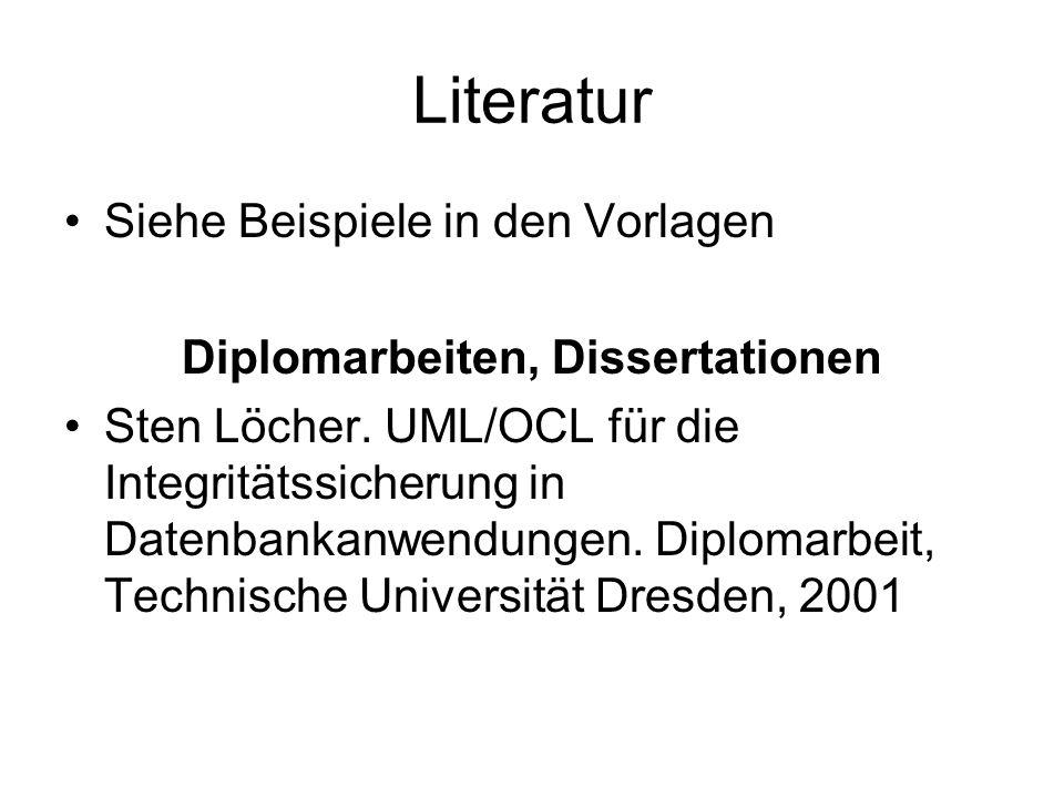 Diplomarbeiten, Dissertationen