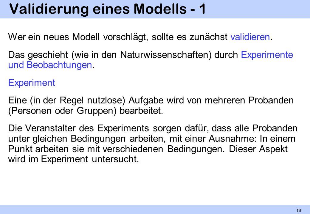 Validierung eines Modells - 1