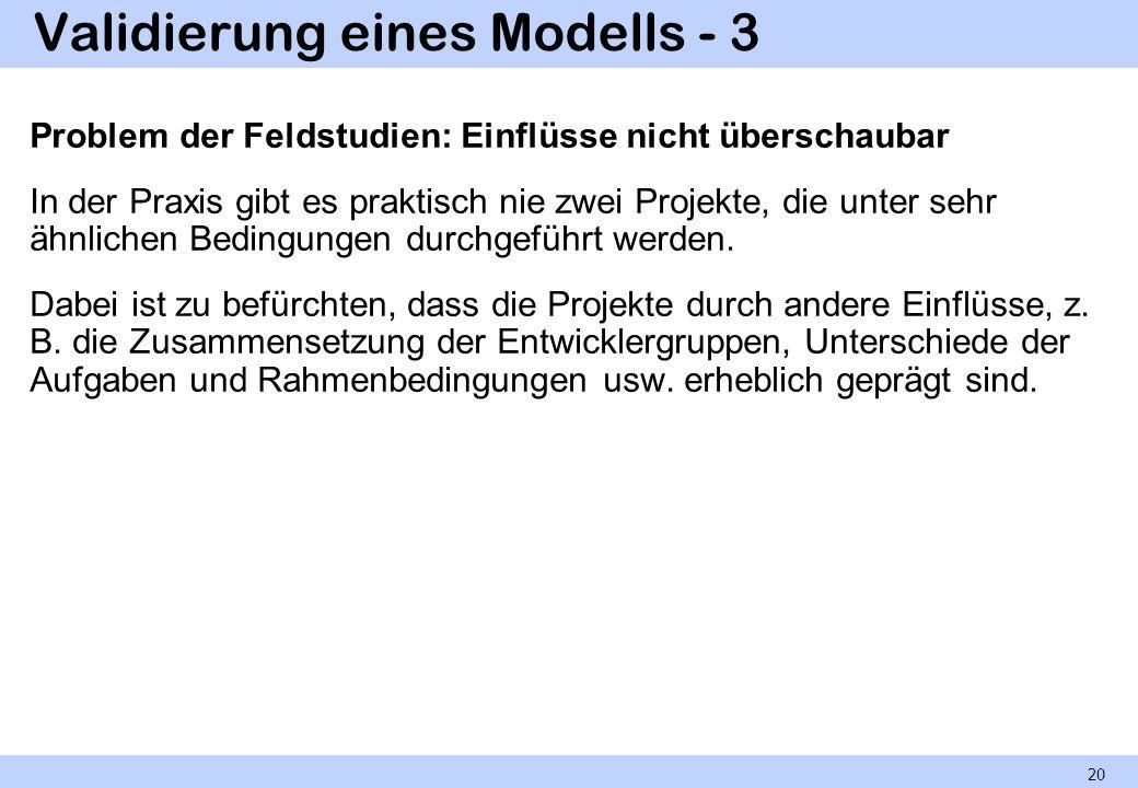 Validierung eines Modells - 3
