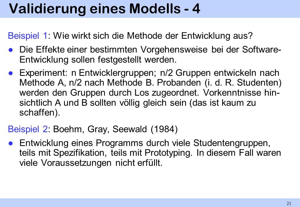 Validierung eines Modells - 4