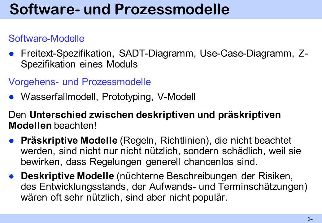 Software- und Prozessmodelle
