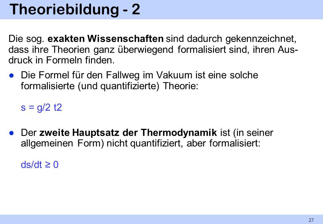 Theoriebildung - 2