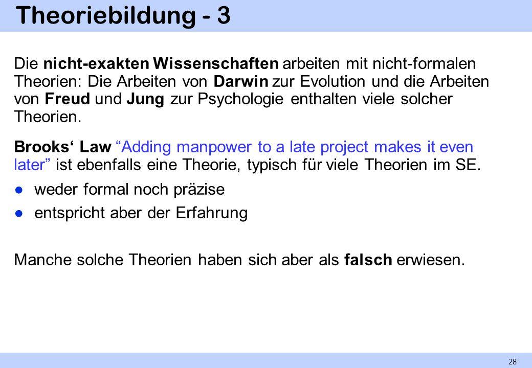 Theoriebildung - 3