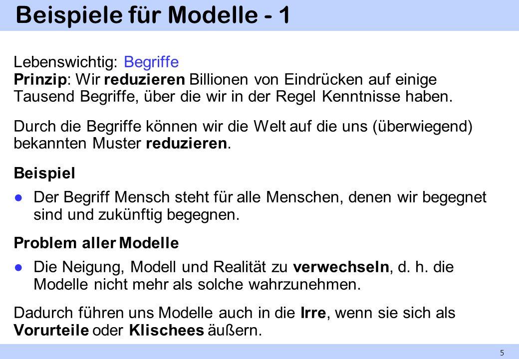 Beispiele für Modelle - 1