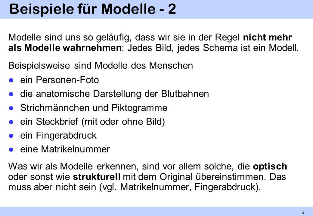 Beispiele für Modelle - 2
