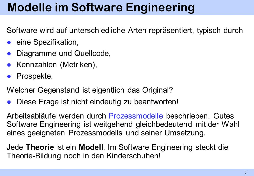 Modelle im Software Engineering