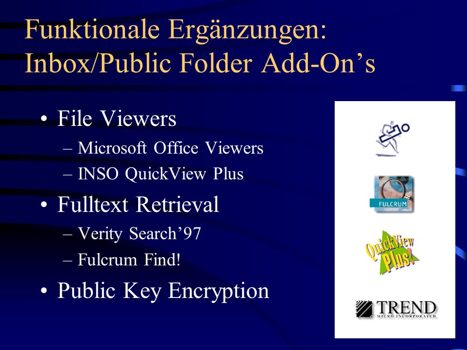 Funktionale Ergänzungen: Inbox/Public Folder Add-On's