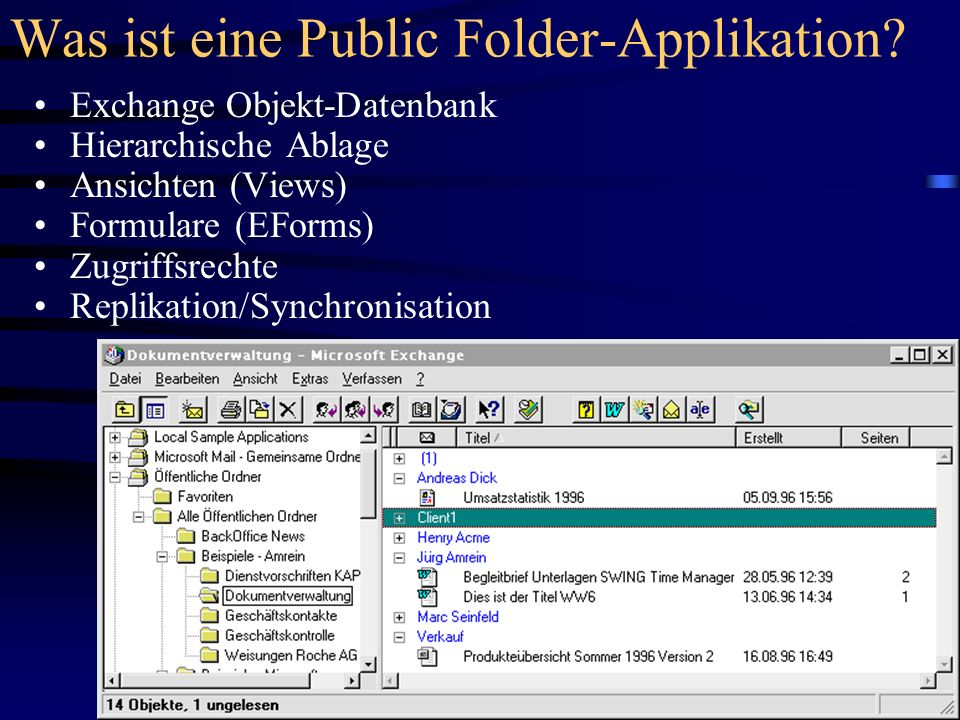 Was ist eine Public Folder-Applikation