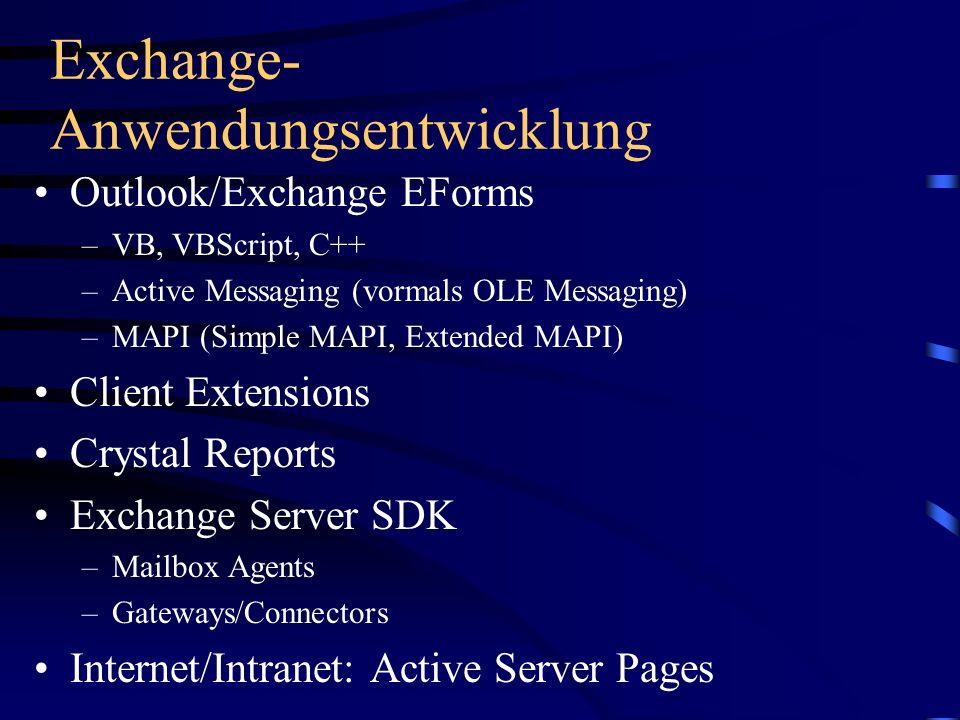 Exchange-Anwendungsentwicklung