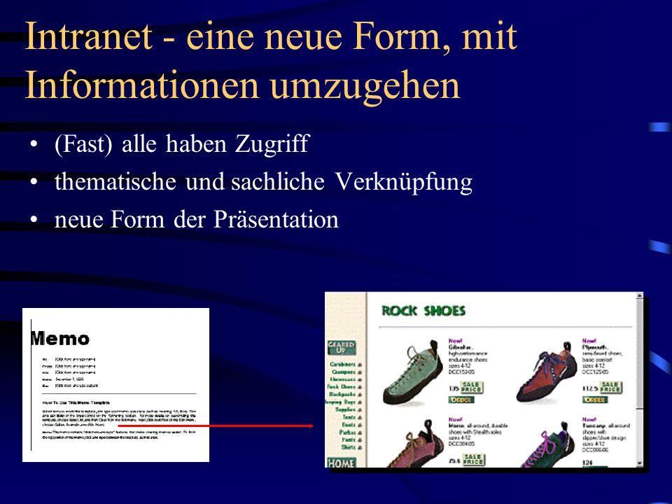 Intranet - eine neue Form, mit Informationen umzugehen