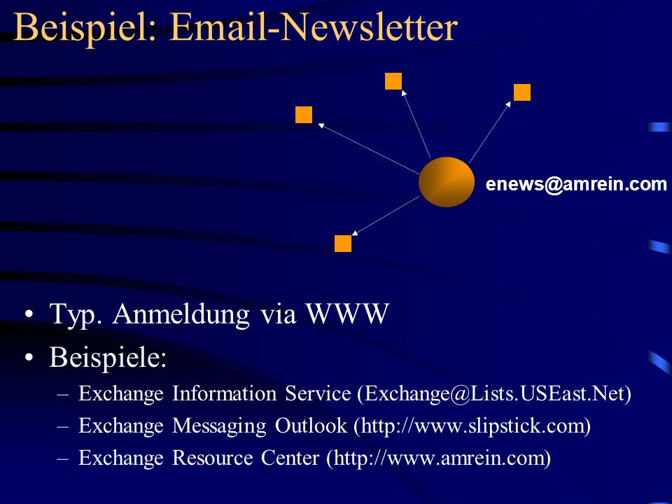 Beispiel: Email-Newsletter