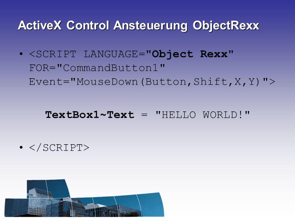 ActiveX Control Ansteuerung ObjectRexx