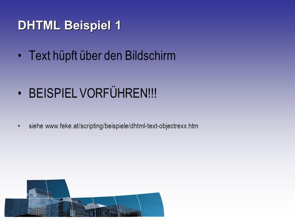 Text hüpft über den Bildschirm BEISPIEL VORFÜHREN!!!