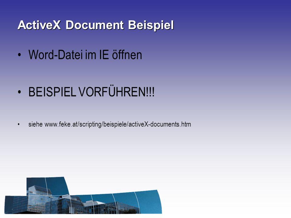 ActiveX Document Beispiel