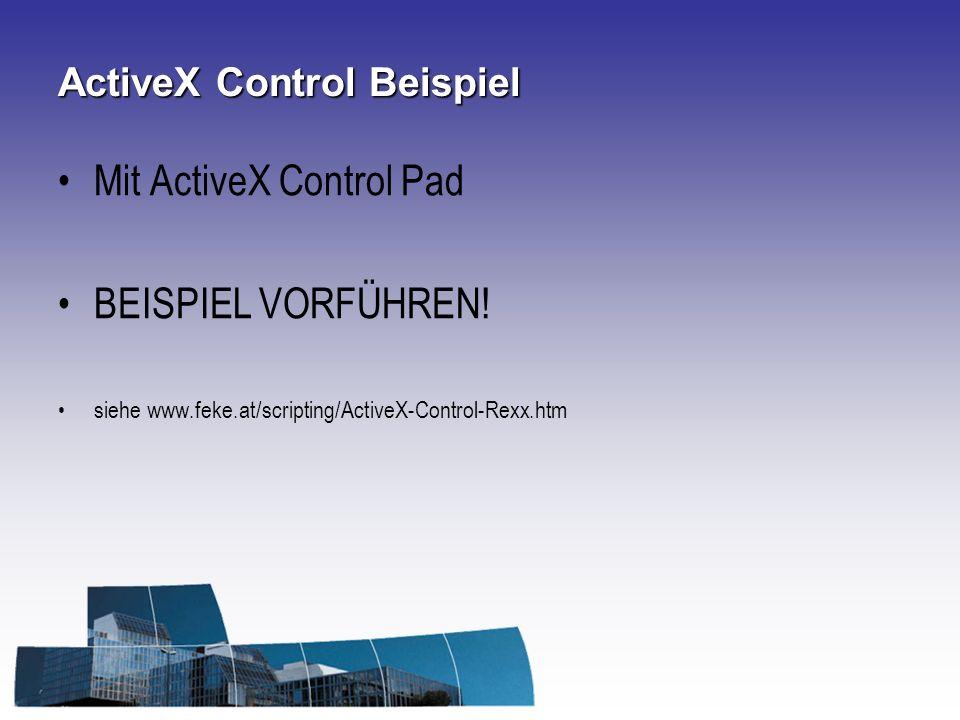 ActiveX Control Beispiel