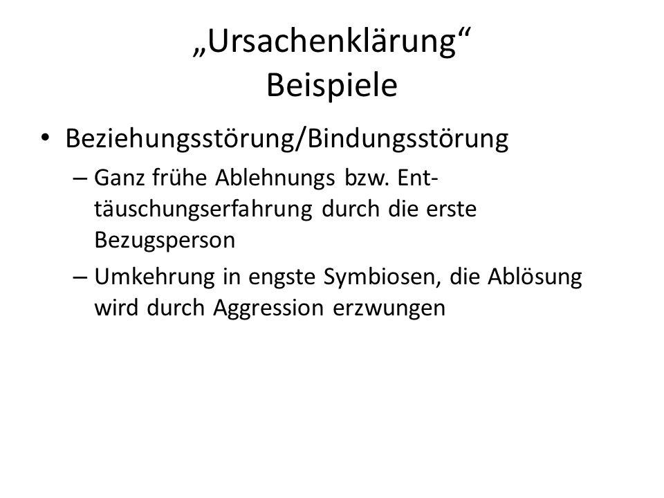"""""""Ursachenklärung Beispiele"""