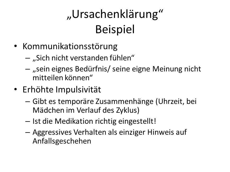"""""""Ursachenklärung Beispiel"""