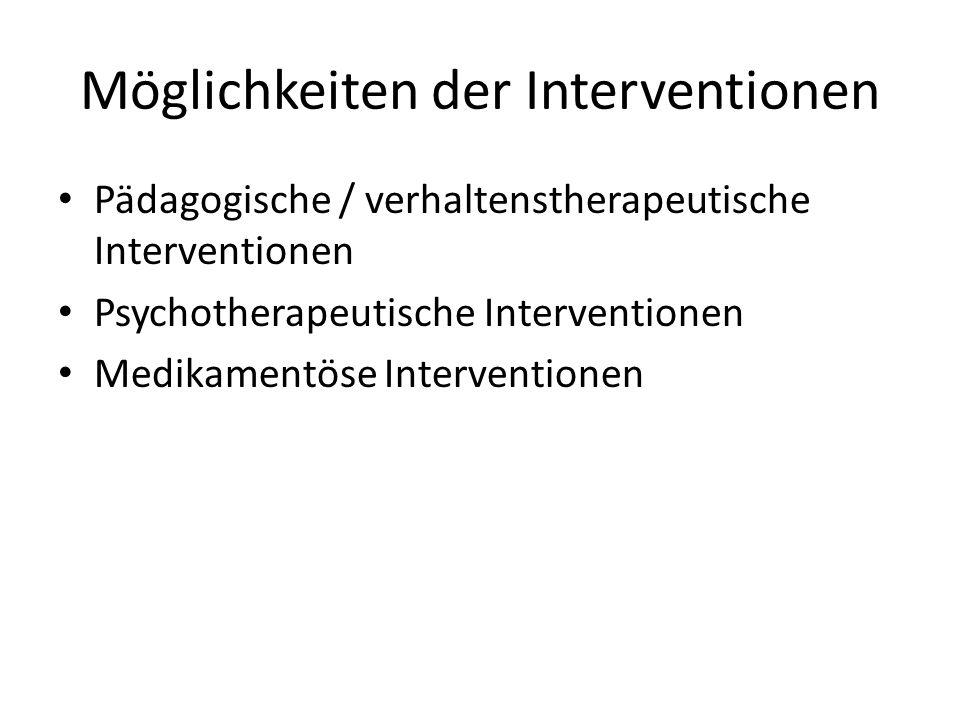 Möglichkeiten der Interventionen