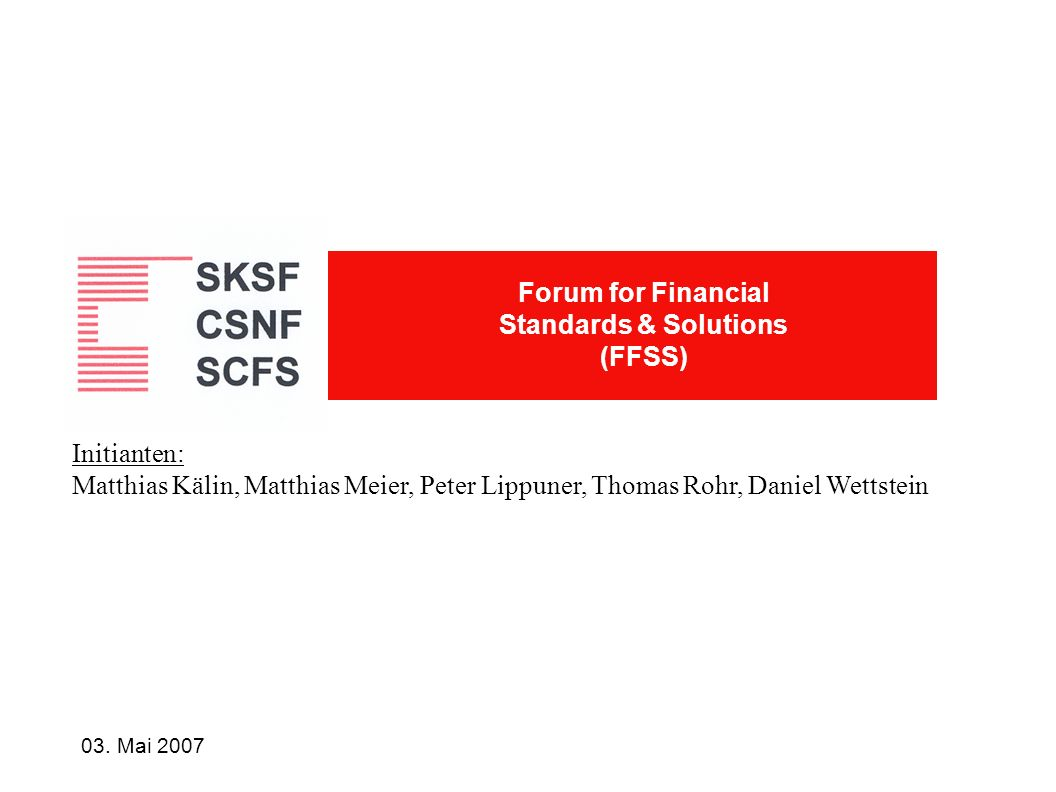Forum for Financial Standards & Solutions (FFSS)