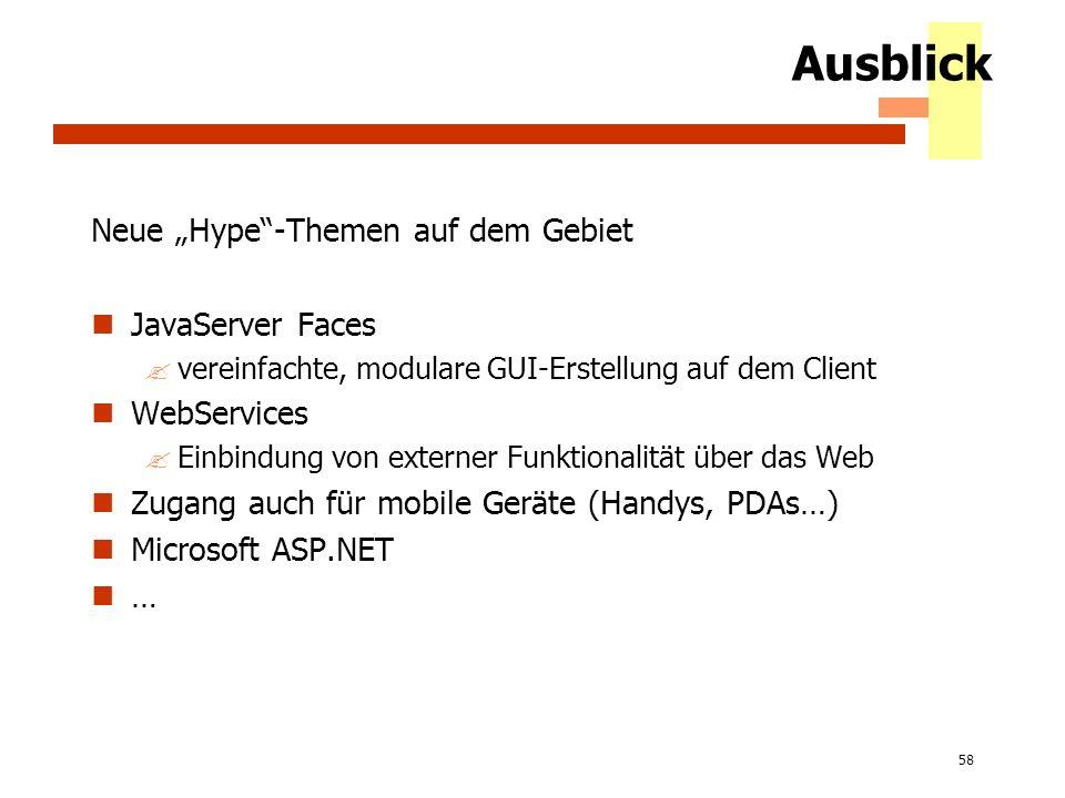 """Ausblick Neue """"Hype -Themen auf dem Gebiet JavaServer Faces"""