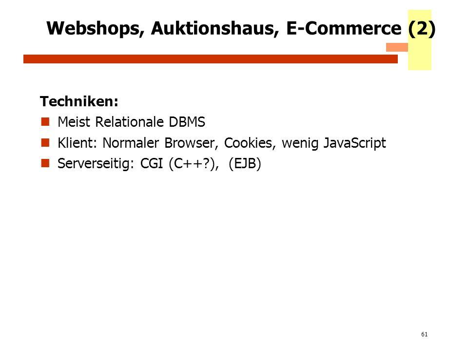 Webshops, Auktionshaus, E-Commerce (2)